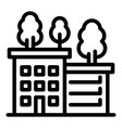 ecologic house icon outline style vector image vector image