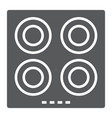 electric hot plate glyph icon kitchen and cooking vector image vector image