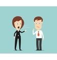 Female boss yelling at employee vector image