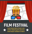 film festival concept banner flat style vector image vector image