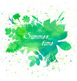 floral summer background with leaves and flowers vector image vector image