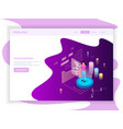 freelance site landing page vector image