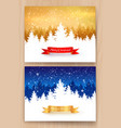 gold and blue christmas designs vector image
