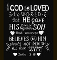 golden bible verse john 3 16 for god so loved the vector image