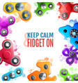 hand spinner toys frame vector image vector image