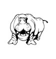 hippopotamus animal cartoon character vector image