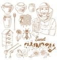 Honey monochrome icon set vector image vector image