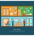 Hotel service vector image vector image