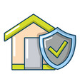 insurance home icon cartoon style vector image