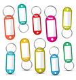 Key Holder Colorful Empty Key Holders Set Isolated vector image