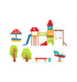 kids playground elements set sport and recreation vector image