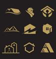 logo set building vector image