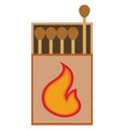 matches on white background vector image vector image