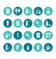 medicines dosage forms glyph icons pharmacy vector image