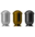 metal ash urn vector image