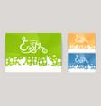 modern easter set modern happy easter cards vector image vector image