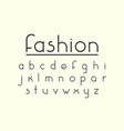 modern fashion font and alphabet vector image