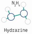 N2H4 Hydrazine molecule vector image vector image
