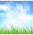 Natural spring background vector image