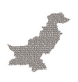 pakistan map abstract schematic from black ones vector image vector image