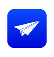 paper airplane icon digital blue vector image
