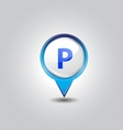 parking pins vector image