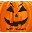 pumpkin portrait for Halloween on vector image