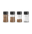 realistic detailed 3d instant coffee glass jar set vector image