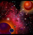 realistic open space the milky way stars and vector image vector image