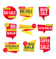 sale banner set website stickers color vector image vector image