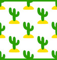 seamless decorative pattern with cute style cacti vector image vector image