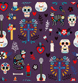seamless mexican deadpattern vector image