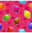 Seamless pattern with cartoon colorful candies vector image