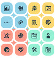 set of simple search icons vector image vector image