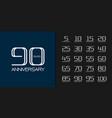 set premium anniversary logotype modern line vector image vector image