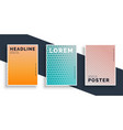 set three poster flyers with pattern design vector image vector image