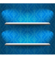 Shelves on the blue wall vector image vector image