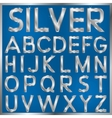Silver Font vector image vector image