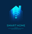 smart home emblem for digital technologies vector image vector image