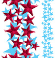 Stars seamless pattern vertical composition vector image