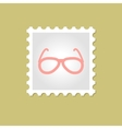 Sunglasses stamp vector image vector image