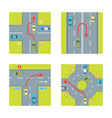 traffic conditions set vector image vector image
