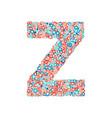 usa national holiday and celebration font letter z vector image vector image
