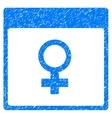 Venus Female Symbol Calendar Page Grainy Texture vector image vector image