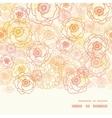 warm flowers horizontal frame seamless vector image