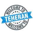 welcome to Teheran blue round vintage stamp vector image vector image