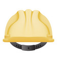 yellow safety helmet isolated on a white vector image vector image