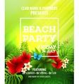Summer Beach Party Flyer Template vector image