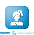 A female avatar girl with hair tail Avatar of a vector image vector image