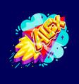 alex name rocket vector image vector image